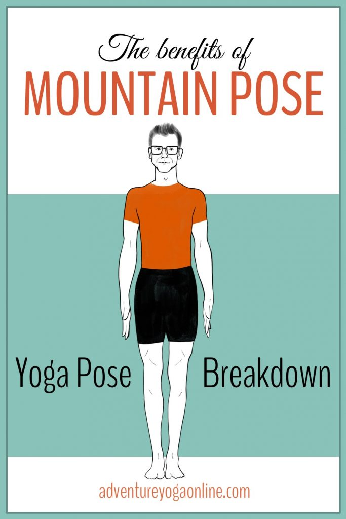 pinterest image for the benefits of mountain pose