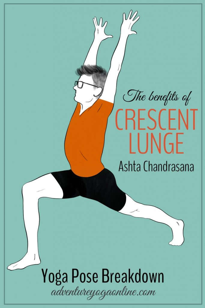 the benefits of crescent lunge pinterest image