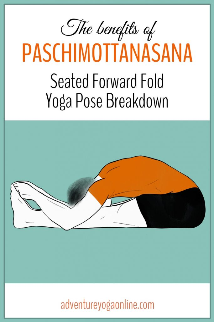 benefits of paschimottanasana pinterest image