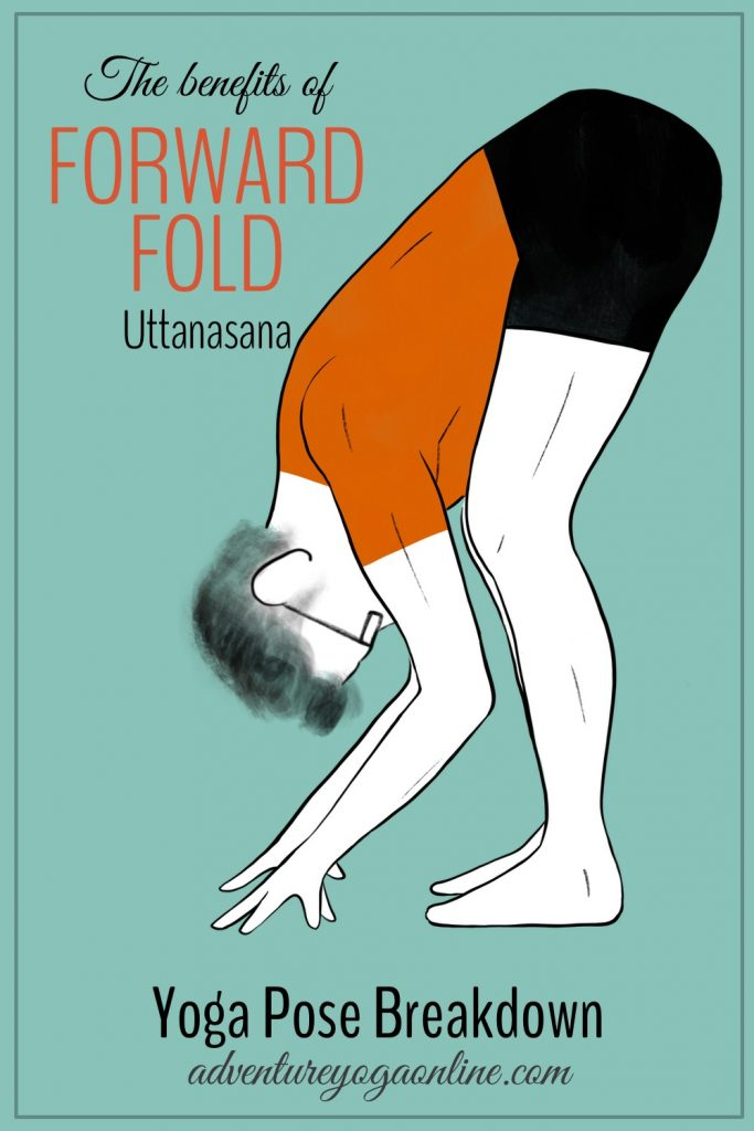 pinterest image for benefits of forward fold 1 pose