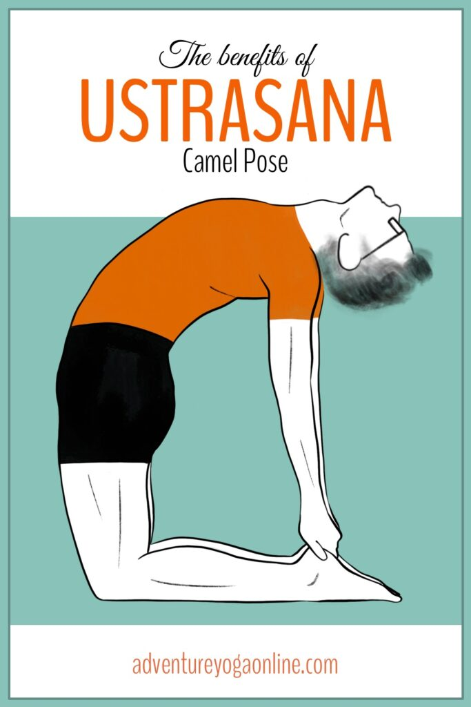 pinterest image for the benefits of ustrasana