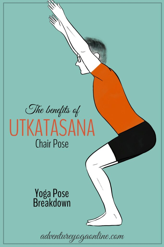 pinterest image for benefits of utkatsana