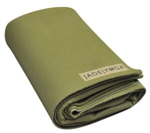 jade voyager travel yoga mat folded into a small size