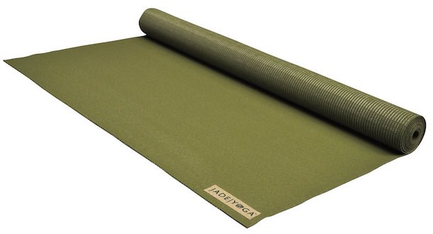 jade voyager travel yoga mat forest green