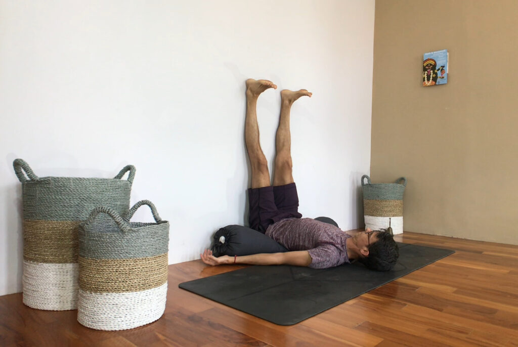 yoga legs up the wall benefits