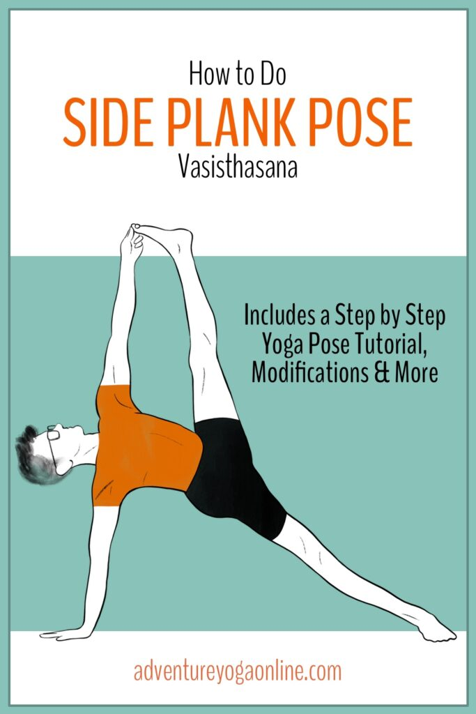 pinterest image for how to side plank pose
